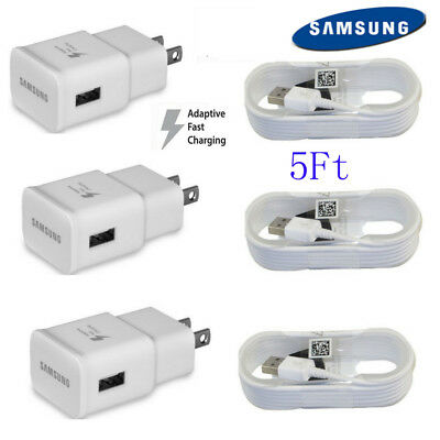 OEM Original Samsung Galaxy S7 S7-Edge Adaptive Fast Wall Charger EP-TA20JWE 5ft