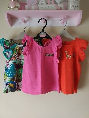 3 x baby girl next tops size 9-12 months BNWOT