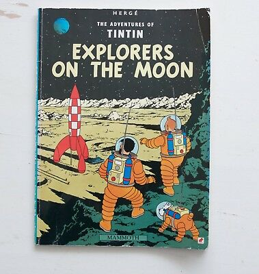 Explorers on the Moon (Adventures of Tintin) by Herge   Book   second hand