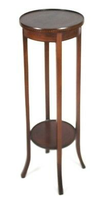 Antique Edwardian Inlaid Mahogany Plant Stand - FREE Shipping [PL4418]