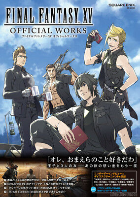DHL/EMS Final Fantasy XV 15 Official Works Japan Game Art Guide Book Square Enix