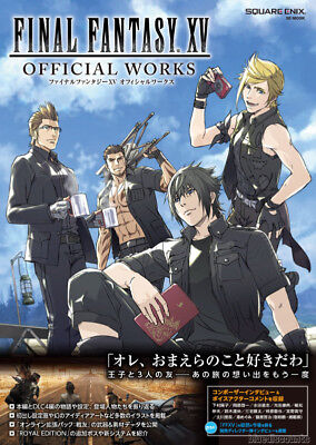 EMS/DHL Final Fantasy XV 15 Official Works Japan Game Art Guide Book Square Enix