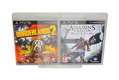 10 x GP10 PS3 Game Box Protectors 0.4mm PET Plastic Display Case For Playstation