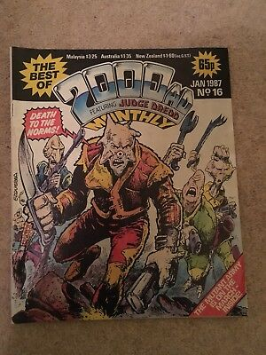 2000 AD Monthly. Jan 1987. No 16