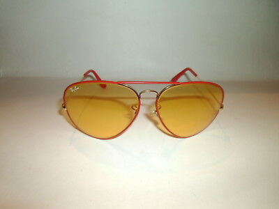 Vintage Bausch & Lomb Ray-ban Chromax Changeables Aviator Sunglasses Red Frame