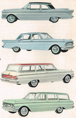 1960 MERCURY COMET Dealer Sales Brochure/Flyer/Catalog with Color Chart.....NOS!