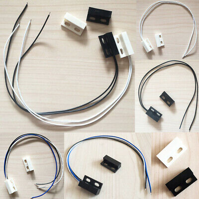 Lots NO NC Magnetic Contact Reed Switch Door Window Sensor Entry Security Alarm
