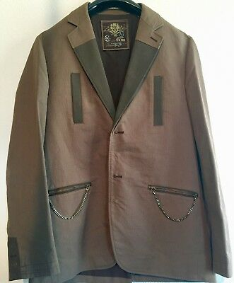 NEW Mark Ecko Mens Brown Casual Blazer Suit Jacket Size Large