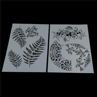 leaf layering stencils for wall painting scrapbooking stamping stamp album!decor