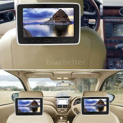 "10"" Inch LCD Car Headrest Digital Monitor DVD Player HD/USB/SD Touch Button D4R7"