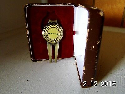 DeWars 12 Year Old Scotch Golf Divot Tool/Ball Marker