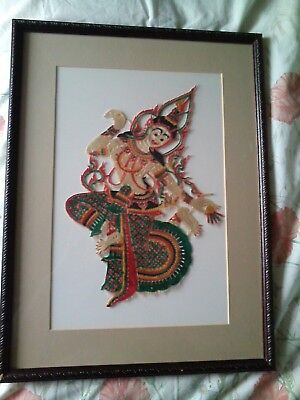 framed south east asian embroidery