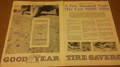 1919  Magazine Print Ad Goodyear  Tire Savers Advertisement A128