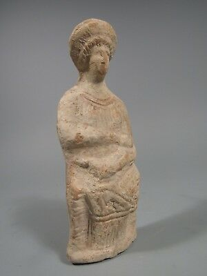 Classical period 5th century BC Athens or Greece Corinth Pottery Woman w/ Child