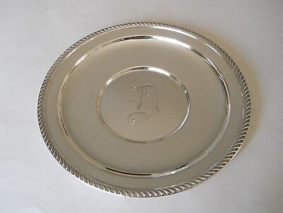 "Vintage Sterling Silver Preisner Silver Co. ""p.s. Co.""   Round Serving  Plate."