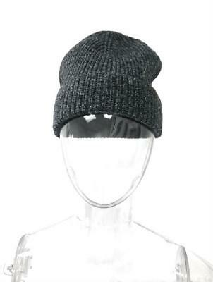 d3c40dff17a Basic Beanie Charcoal Grey Cable Knit Men Women Warm Hat Daily Merino Wool  Style
