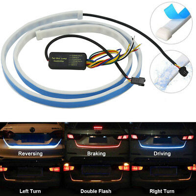 4 Colors 1.2M Car Trunk RGB LED Strip Rear Tail Light Dynamic Brake Turn Lamp FZ