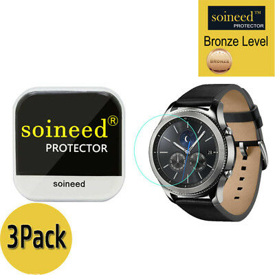 [3-PACK] SOINEED Tempered Glass Screen Protector For Samsung Gear S3 Classic