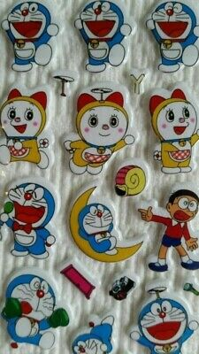 dd 3 Sheets Puffy Stickers Japan Anime Cartoon Japanese Doraemon
