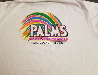 NWOT THE PALMS T-Shirt White X-Large XL Las Vegas Nevada Casino Bright Colors
