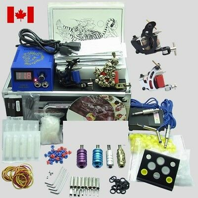 40 Color Complete Tattoo Kit 4 Top Machine Gun Power Supply Ink 50 Needle