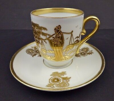 Art Deco Rosenthal Asian Style Demitasse Cup & Saucer