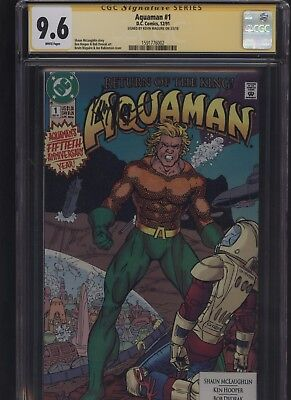 Aquaman #1 CGC 9.6 SS Kevin Maguire 1991