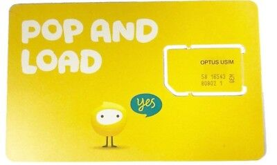OPTUS 4GB DATA SIM ONLY 4G CARD STANDARD SIZE AVAILABLE [OFFER Buy 6 Get 1 Free]