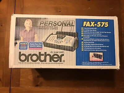 Brand new Brother FAX-575 Plain Paper Thermal Copier Fax  Fast shipping