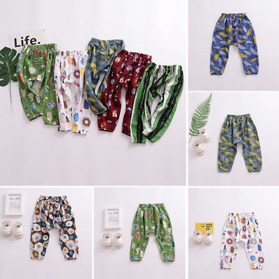 Kids Toddler Summer Mosquito-proof Trousers Baby Boy Girl Long PP Pants Bottoms