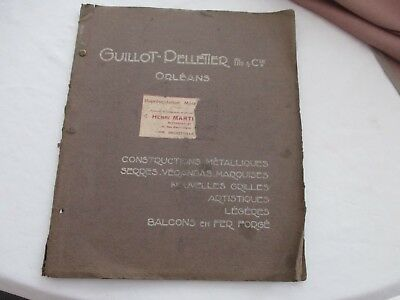 catalogue guillot pelletier Orléans 45 serrurerie d art constructions métallique