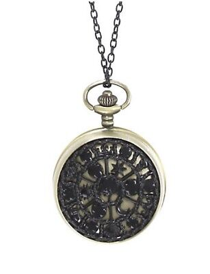 Disney AIW Alice Through The Looking Glass Pocket Watch Pendant Necklace New!