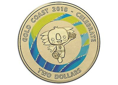 Australian Two Dollar $2 coin - 2018 XXI Commonwealth Games - uncirculated BLUE