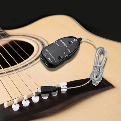 Guitar to USB Interface Link Cable Adapter MAC/PC Recording CD Studio Laptop B3
