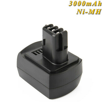 3000mAh 12V Ni-MH Batteria Per Metabo 6.25474, 6.25486 BS 12 SP BSZ 12 Impuls