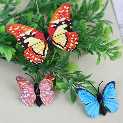 12 pcs Simulation Butterfly Figures Animal Insects Model Kids Toy Gift Party Hot