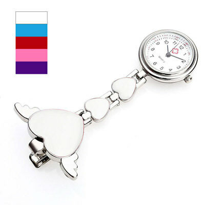 Heart Angel Wings DESIGNER Doctor Nurse Fob Watch Stainless Steel Quartz Medical