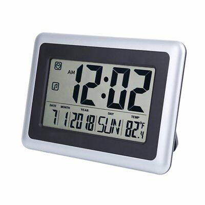 """OCEST Digital Alarm Wall Clock Large Display 7.5"""" LCD Screen with Date Time"""
