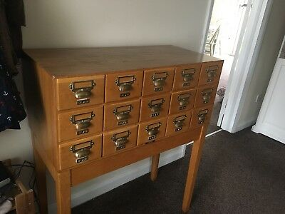 vintage Libary Draws