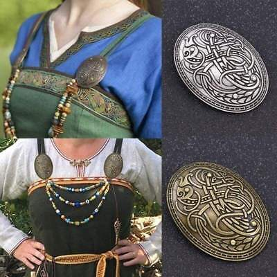 Viking Werewolf Carved Rune Peace Brooch Badge Jewelry Brooches for women Dragon