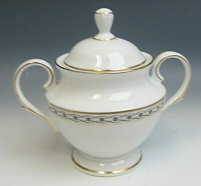 Lenox China CELTIC BRAID (seconds mark) Sugar Bowl w/Lid EXCELLENT