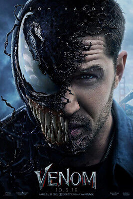 "Venom Poster 48x32"" 36x24"" 21x14"" 2018 Tom Hardy Movie Film Art Print Silk"