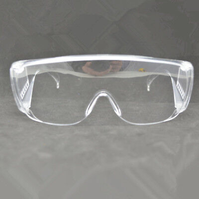 Clear Lens Protective Safety Glasses Eye Protection Goggles Lab Work Specs
