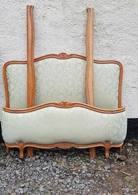 Vintage French Demi Corbeille Double Bed.