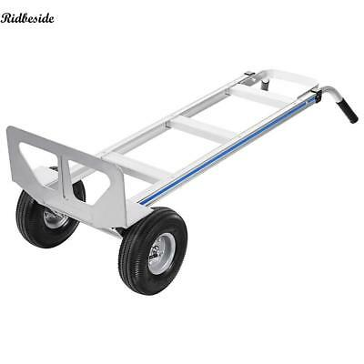 500lbs Aluminum Hand Truck Dolly Moving Cart Boxes Heavy Duty & 2-Wheel Quality