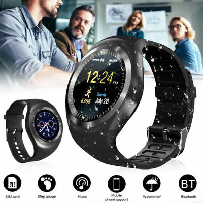 Y1 ROUND WATERPROOF Bluetooth Smart Watch For Android*IOS*iPhone*Samsung*LG  USA