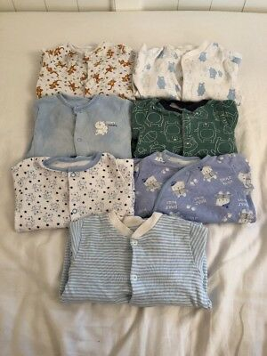 3-6 Months Baby Boys Clothes Bundle Sleepsuits Babygrows (Ref:12)