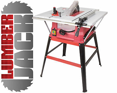 Lumberjack TS254ELS 10 Inch 1500W Bench Table Saw With Blade Stand 240v
