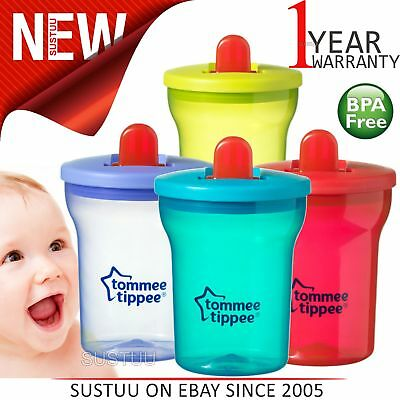 Tommee Tippee Essentials First Beaker Leak-Proof Free Flow Spout Cups│200ml│4m+
