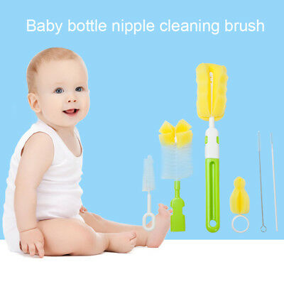 Baby Newborn Bottle Valve and Teat Brush Cleaning 6pcs/tea brush B5S